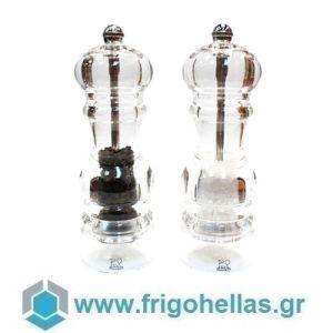 PEUGEOT 2/900818 NANCY (18cm) Set Ακρυλικός Μύλος Πιπεριού/Αλατιού