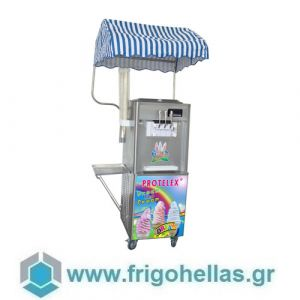 PROTELEX ENTRY (3 Γεύσεις) Παγωτομηχανές-Μηχανές παγωτού soft ice χωνάκι - 2 x 7Lit