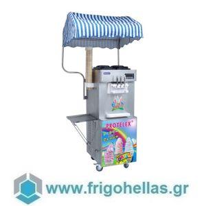 PROTELEX SUMMER (3 Γεύσεις) Παγωτομηχανές-Μηχανές παγωτού soft ice χωνάκι - 2 x 13Lit
