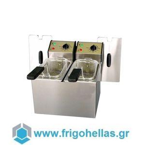 ROLLER GRILL FD50D Επαγγελματική Φριτέζα Ηλεκτρική 5+5 Lit - 6,4Kw - 230Volt (Γαλλίας) (Υποστηρίζεται από Εξουσιοδοτημένο Service)