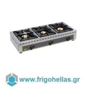 ROLLER GRILL GAR 19B Επιτραπέζια Τριπλή Εστία Αερίου- 1005x510x195mm (Υποστηρίζεται από Εξουσιοδοτημένο Service)