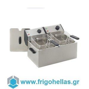 ROLLER GRILL RF5DS Επαγγελματική Φριτέζα Ηλεκτρική 5+5 Lit - 4Kw - 230Volt (Γαλλίας) (Υποστηρίζεται από Εξουσιοδοτημένο Service)