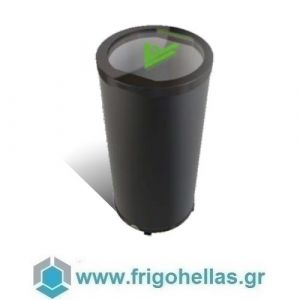Sanden Intercool Thailand G77L (77lit) Στρογγυλό Επαγγελματικό Ψυγείο can coolers-Μαύρο- Ø572x838mm
