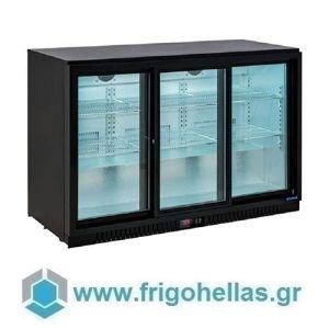 Sanden Intercool Thailand ICG-330HB (330lit) (Εξουσιοδοτημένο Service - Επίσημος Μεταπωλητής) Επιτραπέζιο Ψυγείο Βιτρίνα Συντήρησης Με 3 Πόρτες Ανοιγόμενες-1350x520x865mm