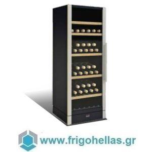 Sanden Intercool Thailand ICG-W155 (146 Μπουκάλια) (Εξουσιοδοτημένο Service - Επίσημος Μεταπωλητής) Ψυγείο Κάβα Κρασιών-Μαύρο- 595x595x1550mm