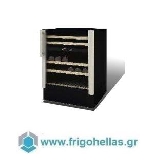 Sanden Intercool Thailand ICG-W38 (38 Μπουκάλια) (Εξουσιοδοτημένο Service - Επίσημος Μεταπωλητής) Ψυγείο Κάβα Κρασιών-Ασημί-595x573x890mm