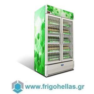 Sanden Intercool Thailand SPE-1005 (1000lit) (Εξουσιοδοτημένο Service - Επίσημος Μεταπωλητής) Επαγγελματικό Ψυγείο Αναψυκτικών Λευκό με 2 Πόρτες Περιστρεφόμενες- 1050x710x1930mm