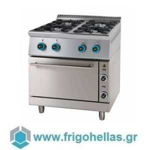 SERGAS FC4GFES7 (Εξουσιοδοτημένο Service - Επίσημος Μεταπωλητής) Κουζίνα Υγραερίου Με Ηλεκτρικό Φούρνο