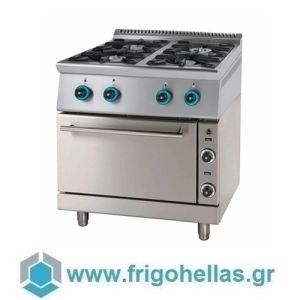 SERGAS FC4GFES9 (Εξουσιοδοτημένο Service - Επίσημος Μεταπωλητής) Κουζίνα Φυσικού Αερίου Με Ηλεκτρικό Φούρνο