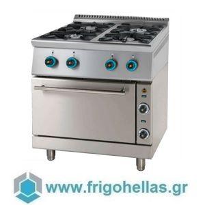 SERGAS FC4GFES9 (Εξουσιοδοτημένο Service - Επίσημος Μεταπωλητής) Κουζίνα Υγραερίου Με Ηλεκτρικό Φούρνο
