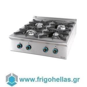 SERGAS FC4S9 (Εξουσιοδοτημένο Service - Επίσημος Μεταπωλητής) Επιτραπέζια Εστία Φυσικού Αερίου με 4 Φλόγιστρα