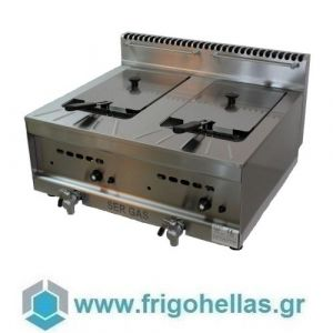 SERGAS GF20 (Εξουσιοδοτημένο Service - Επίσημος Μεταπωλητής) Επιτραπέζια Φριτέζα Φυσικού Αερίου 2x10Lit