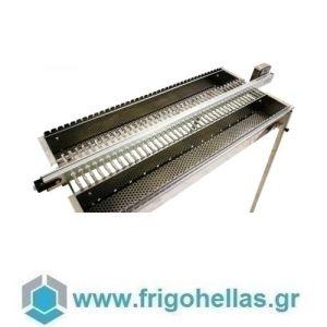 TECNOROAST TRD-80 (125x45x100cm) Ηλεκτρικη Διπλή Σουβλακιέρα Κάρβουνου Αυτόματης Περιστροφής για 80 Σουβλάκια