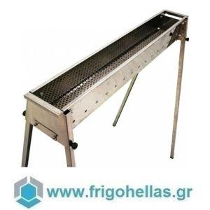 TECNOROAST TRO-100 (100x15,5x100cm) Ψησταριά Κάρβουνου για Σουβλάκια
