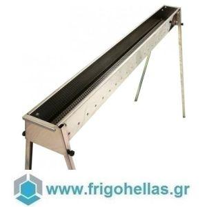 TECNOROAST TRO-150 (150x15,5x100cm) Ψησταριά Κάρβουνου για Σουβλάκια