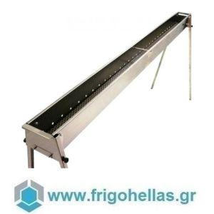TECNOROAST TRO-200 (200x15,5x100cm) Ψησταριά Κάρβουνου για Σουβλάκια