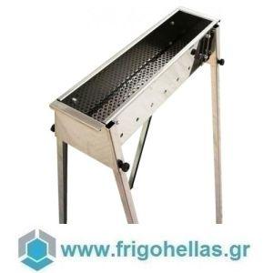 TECNOROAST TRO-50 (50x15,5x100cm) Ψησταριά Κάρβουνου για Σουβλάκια
