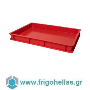 VAS007 (60x40x7cm - 13Lt) Επαγγελματικά Δοχεία Τροφίμων Κόκκινο (RAL3020)