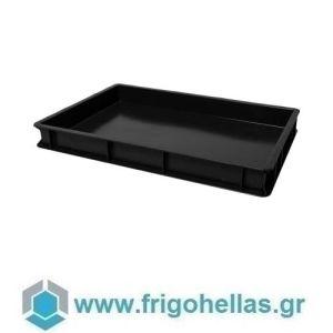 VAS007 (60x40x7cm - 13Lt) Επαγγελματικά Δοχεία Τροφίμων Μαύρο (RAL9011)