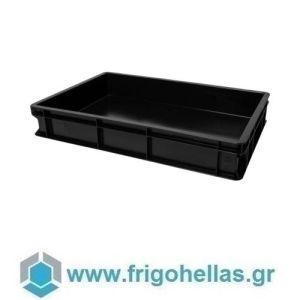 VAS010 (60x40x10cm - 19Lt) Επαγγελματικά Δοχεία Τροφίμων Μαύρο (RAL9011)
