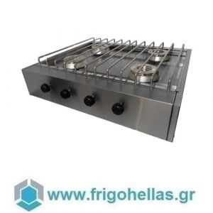 VRETTOS KALLISTI 4 ECO (80x70x19cm) Φλόγιστρο Φυσικού Αερίου με 4 Καυστήρες- 34 KW (Υποστηρίζεται από εξουσιοδοτημένο Service)