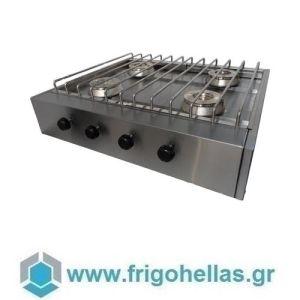 VRETTOS KALLISTI 4 ECO Y (80x70x19cm) Φλόγιστρο Υγραερίου με 4 Καυστήρες- 34 KW (Υποστηρίζεται από εξουσιοδοτημένο Service)