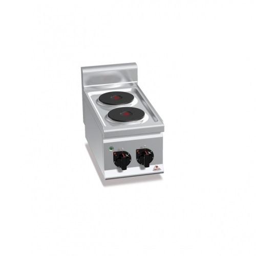 BERTOS E6P2B Επιτραπέζια Κουζίνα Ηλεκτρική Με 2 Εστίες - 300x600x290mm επαγγελματικός εξοπλισμός   κουζίνες πλατό φριτέζες βραστήρες  επαγγελματικός εξ