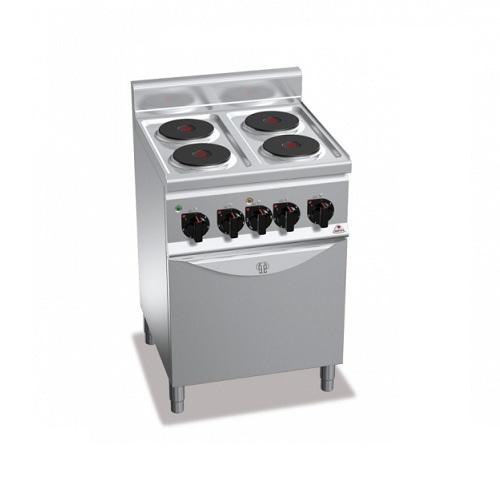 BERTOS E6P4+FE1 Επιδαπέδια Κουζίνα Ηλεκτρική Με Φούρνο Ηλεκτρικό Convection GN 1 επαγγελματικός εξοπλισμός   κουζίνες πλατό φριτέζες βραστήρες  επαγγελματικός εξ