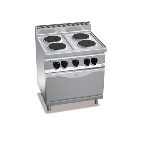 BERTOS E7P4+FE1 Επιδαπέδια Κουζίνα Ηλεκτρική Με Φούρνο Ηλεκτρικό Convection GN 1 επαγγελματικός εξοπλισμός   κουζίνες πλατό φριτέζες βραστήρες  επαγγελματικός εξ