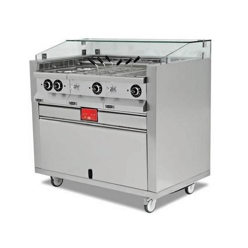 EMPERO EMP.MCS.01 Σταθμός Action live cooking - 1000x850x1200mm επαγγελματικός εξοπλισμός   κουζίνες πλατό φριτέζες βραστήρες   σταθμός action l