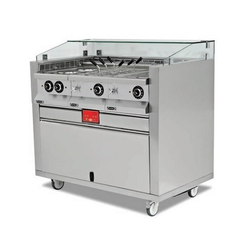 EMPERO EMP.MCS.02 Σταθμός Action live cooking - 1400x850x1200mm επαγγελματικός εξοπλισμός   κουζίνες πλατό φριτέζες βραστήρες   σταθμός action l
