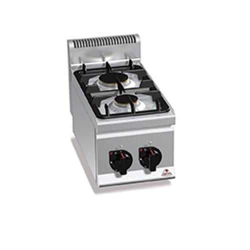 BERTOS G6F2B Επιτραπέζια Κουζίνα Αερίου Με 2 Εστίες - 300x600x290mm επαγγελματικός εξοπλισμός   κουζίνες πλατό φριτέζες βραστήρες  επαγγελματικός εξ