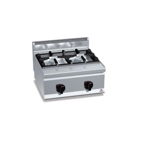 BERTOS G6F2BH6 Επιτραπέζια Κουζίνα Αερίου Με 2 Εστίες - 600x600x290mm επαγγελματικός εξοπλισμός   κουζίνες πλατό φριτέζες βραστήρες  επαγγελματικός εξ