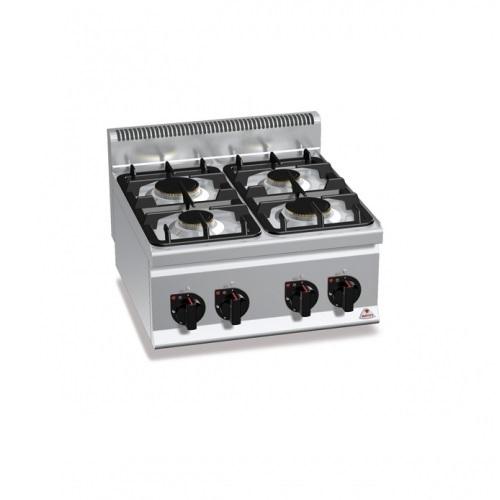 BERTOS G6F4B Επιτραπέζια Κουζίνα Αερίου Με 4 Εστίες - 600x600x290mm επαγγελματικός εξοπλισμός   κουζίνες πλατό φριτέζες βραστήρες  επαγγελματικός εξ