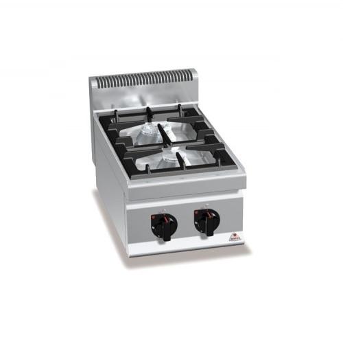 BERTOS G7F2B Επιτραπέζια Κουζίνα Αερίου Με 2 Εστίες - 400x700x290mm επαγγελματικός εξοπλισμός   κουζίνες πλατό φριτέζες βραστήρες  επαγγελματικός εξ