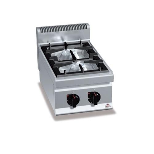 BERTOS G7F2BP Επιτραπέζια Κουζίνα Αερίου Με 2 Εστίες - 400x700x290mm επαγγελματικός εξοπλισμός   κουζίνες πλατό φριτέζες βραστήρες  επαγγελματικός εξ