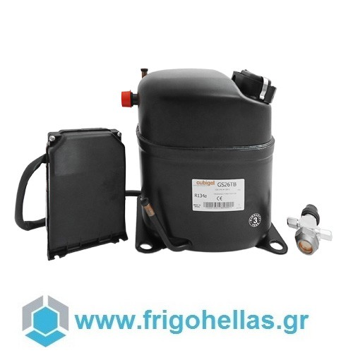 ACC Cubigel GS34TB (1HP / 230Volt / R134a) Κομπρεσέρ Ψυγείων Συντήρησης (ex Elec συμπιεστές   cubigel compressors  ex electrolux  συμπιεστές   cubigel compressor