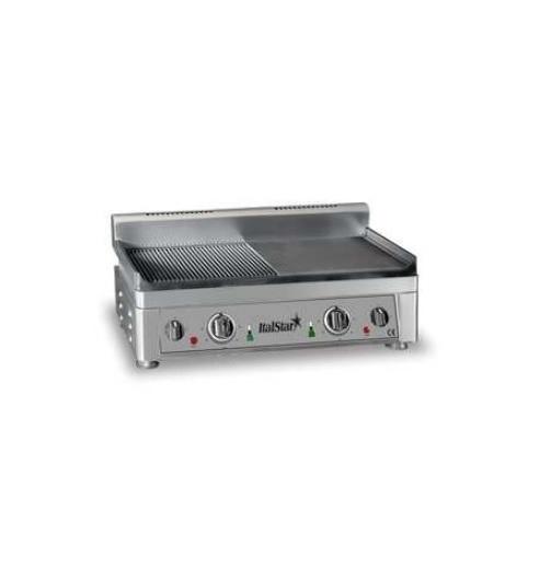 ItalStar 058.0007 Ηλεκτρικό Πλατό Εστία Ψησίματος 1/2 Ραβδωτό - 1/2 Λείο - 560x3 black week προσφορές   εστία πλατό  επαγγελματικός εξοπλισμός   κουζίνες πλατό φ