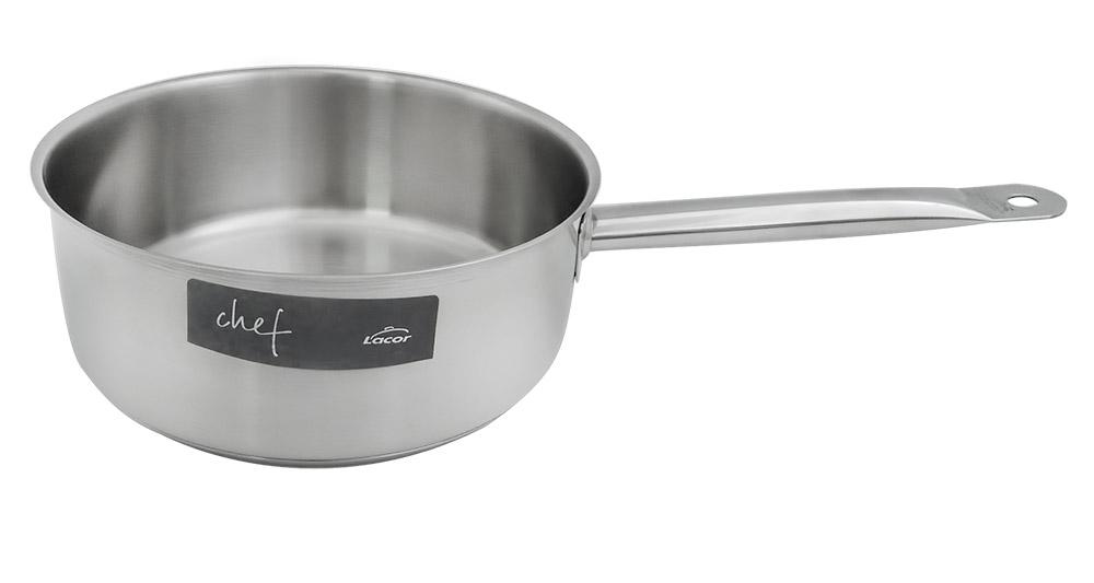 LACOR 50220 Chef Classic Ανοξείδωτο Επαγγελματικό Κατσαρόλι (2,8 Lit) - ΔxΥ: Ø200x90mm