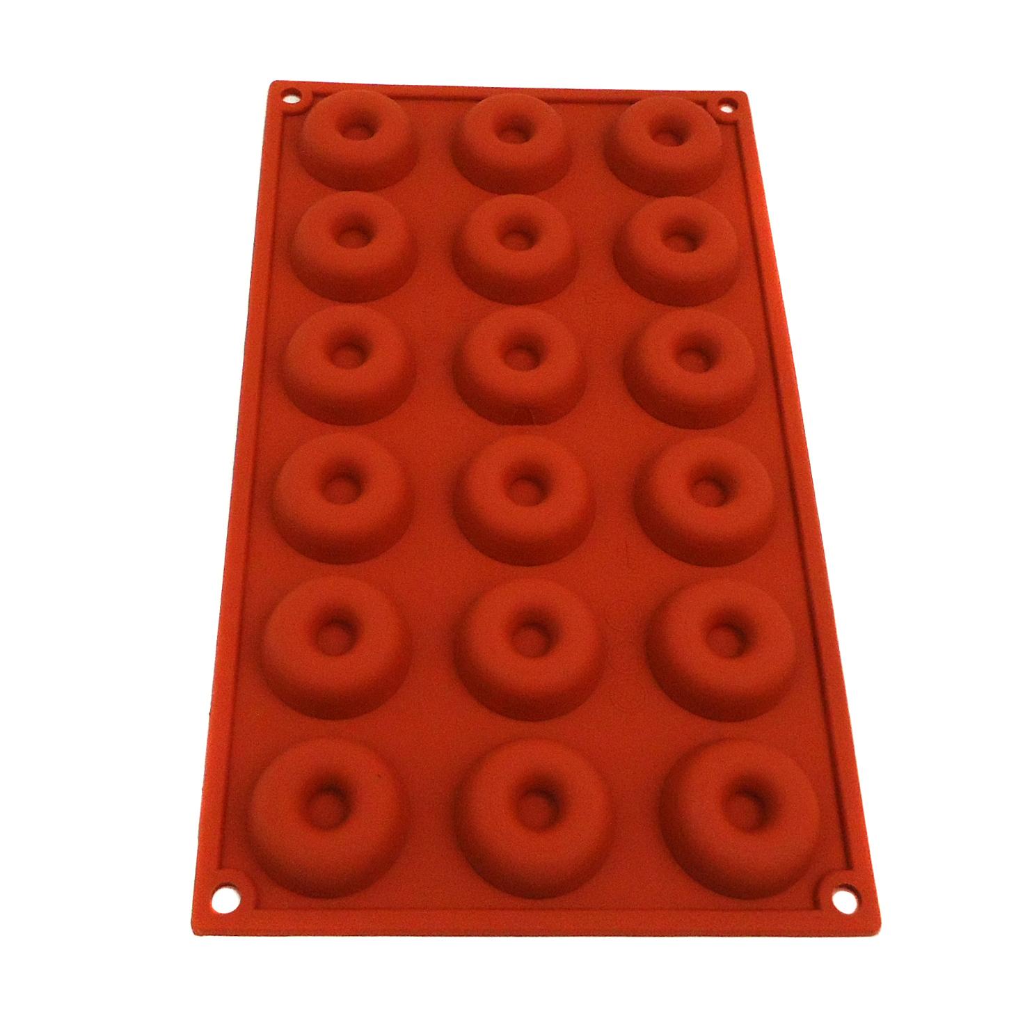 Lacor 66708 Αντικολλητικές Φόρμες Ψησίματος Σιλικόνης Mini Savarin 18 Θέσεων Ø41 επαγγελματικός εξοπλισμός   επαγγελματικά σκεύη είδη σερβιρίσματος   εξαρτήματα