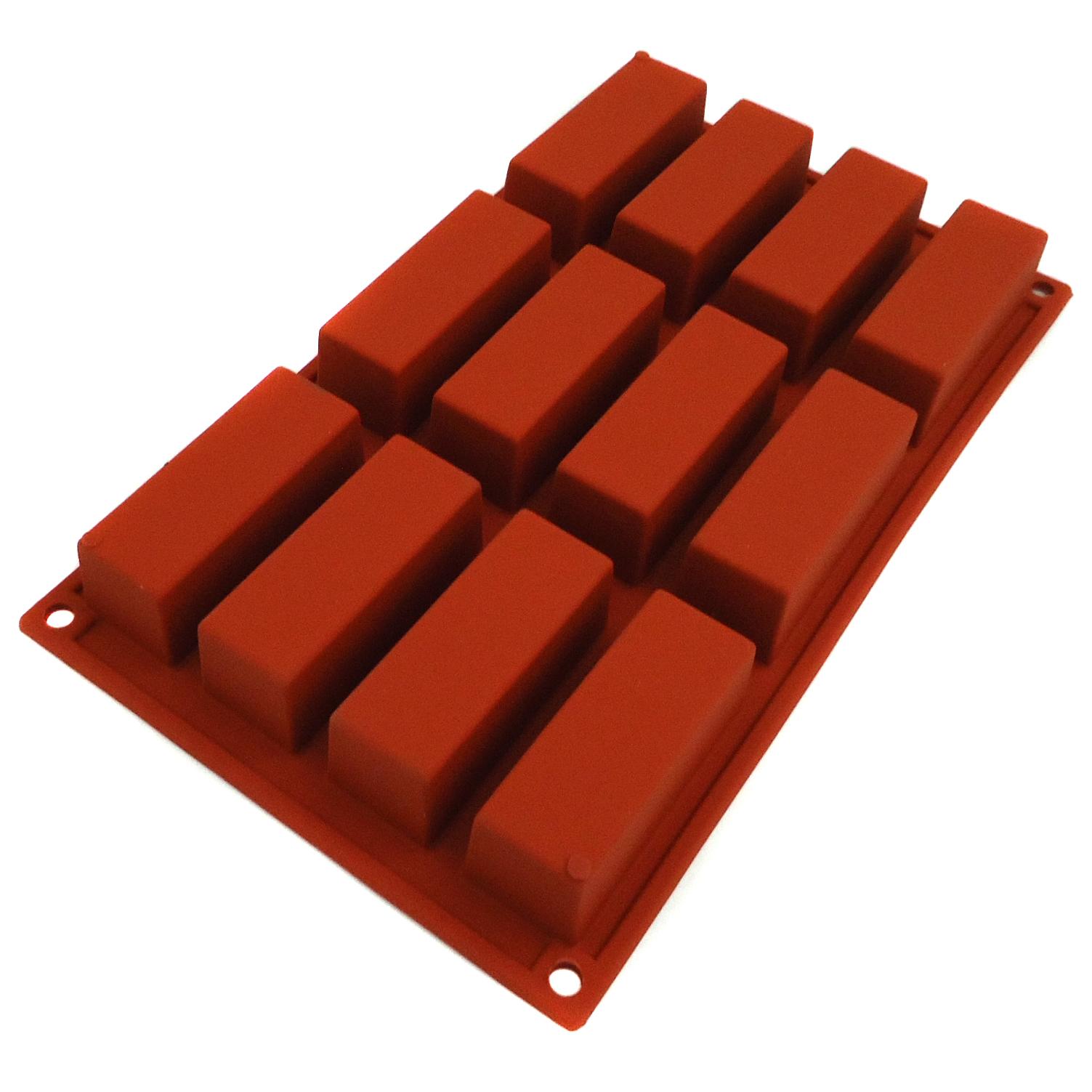 Lacor 66826 Αντικολλητικές Φόρμες Σιλικόνης Κέικ 12 Θέσεων - 80x30x30mm επαγγελματικός εξοπλισμός   επαγγελματικά σκεύη είδη σερβιρίσματος   εξαρτήματα
