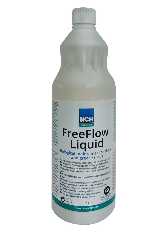 NCH FreeFlow Liquid Βιολογικό Καθαριστικό Λιποσυλλεκτών - Καθαρίζει Σωλήνες & Απ επαγγελματικός εξοπλισμός   καθαριστικά   γυαλιστικά   λιπαντικά