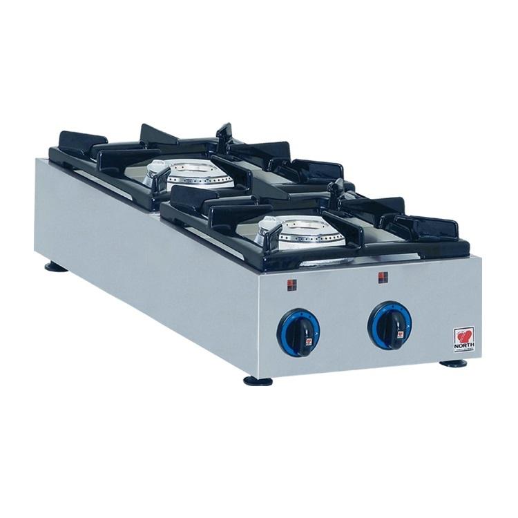 NORTH GAS E22C Επιτραπέζια Φλόγιστρα Υγραερίου - 325x700x160mm επαγγελματικός εξοπλισμός   κουζίνες πλατό φριτέζες βραστήρες   north pro gas  ε