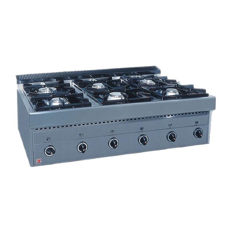 NORTH PRO GAS GAS E6 Επιτραπέζιο Φλόγιστρο Υγραερίου - 1190x700x430mm επαγγελματικός εξοπλισμός   κουζίνες πλατό φριτέζες βραστήρες  επαγγελματικός εξ