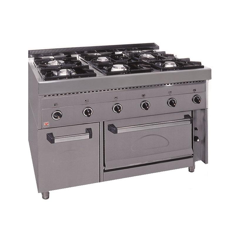 NORTH PRO GAS FGAS E6 Επιδαπέδια Φλόγιστρα Κουζίνα Υγραερίου - 1190x700x950mm επαγγελματικός εξοπλισμός   κουζίνες πλατό φριτέζες βραστήρες  επαγγελματικός εξ