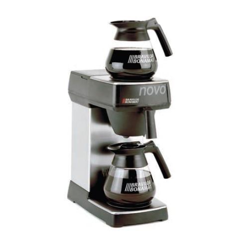 BRAVILOR NOVO Μηχανή Καφέ Φίλτρου Ανοξείδωτη (Με 2 εστίες) Παραγωγή: 18lit/h. Ολ επαγγελματικός εξοπλισμός   μηχανές καφέ   συσκευές για bar  επαγγελματικός εξοπ