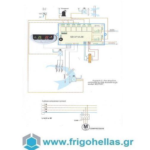 FrigoHellas B.N OEM QD-U011A Πλακέτα Τηλεκοντρόλ για Κλιματιστικά on/off & για Ν κλιματισμός    ανταλλακτικά   εξαρτήματα κλιματιστικών a c  προσφορές   κλιματισ