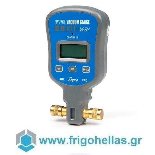 "SUPCO VG64 Ηλεκτρονικό Μανόμετρο Κενού 1/4"" εργαλεία για ψυκτικούς   κάσες μανομέτρων   μανόμετρα   λάστιχα πληρώσεως  εργαλ"