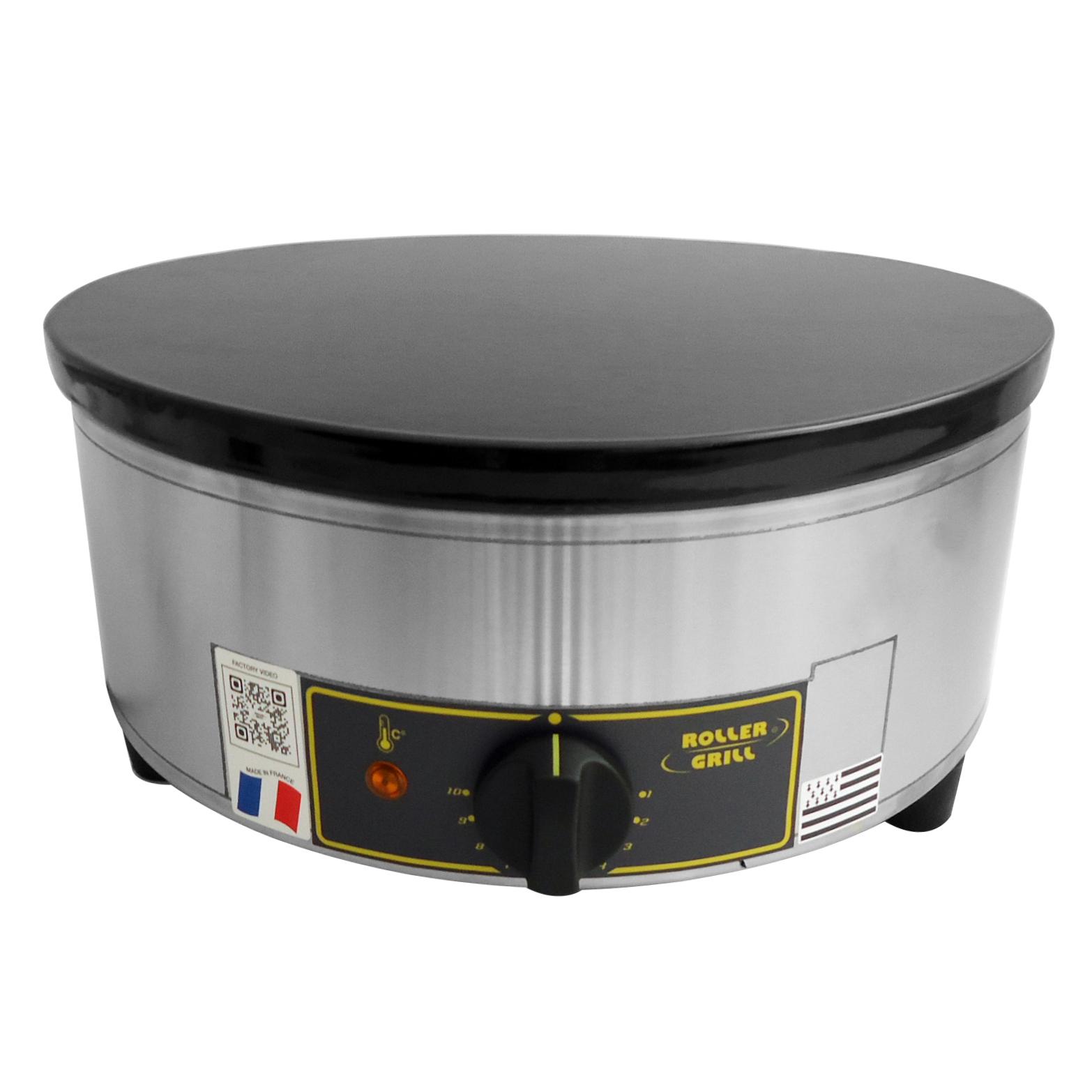 ROLLER GRILL CFE400 Κρεπιέρα Ηλεκτρική Μονή Ø400mm black week προσφορές   κρεπιέρες  επαγγελματικός εξοπλισμός   φούρνοι μικροκύματ