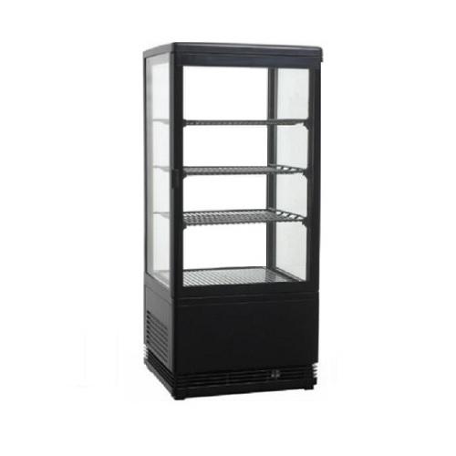 RT-78L Black Επιτραπέζιο Επαγγελματικό Ψυγείο Βιτρίνα 78Lit Χρώμα: Μαύρο - (ΜxΠx επαγγελματικός εξοπλισμός   επαγγελματικά ψυγεία   όλα τα ψυγεία αναψυκτικών  επ